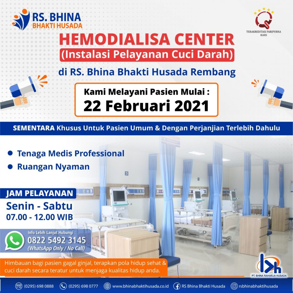 Hemodialisa Center (Instalasi Pelayanan Cuci Darah)