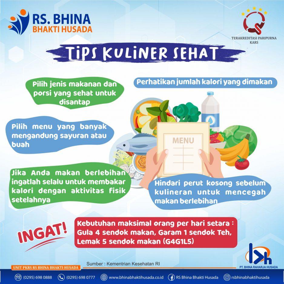 Tips Kuliner Sehat