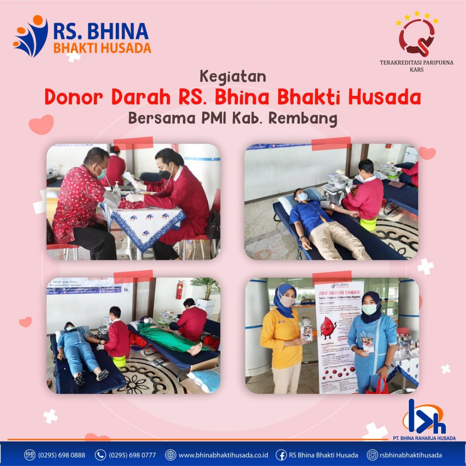 Kegiatan Donor Darah RS. Bhina Bhakti Husada Bersama PMI Kab. Rembang