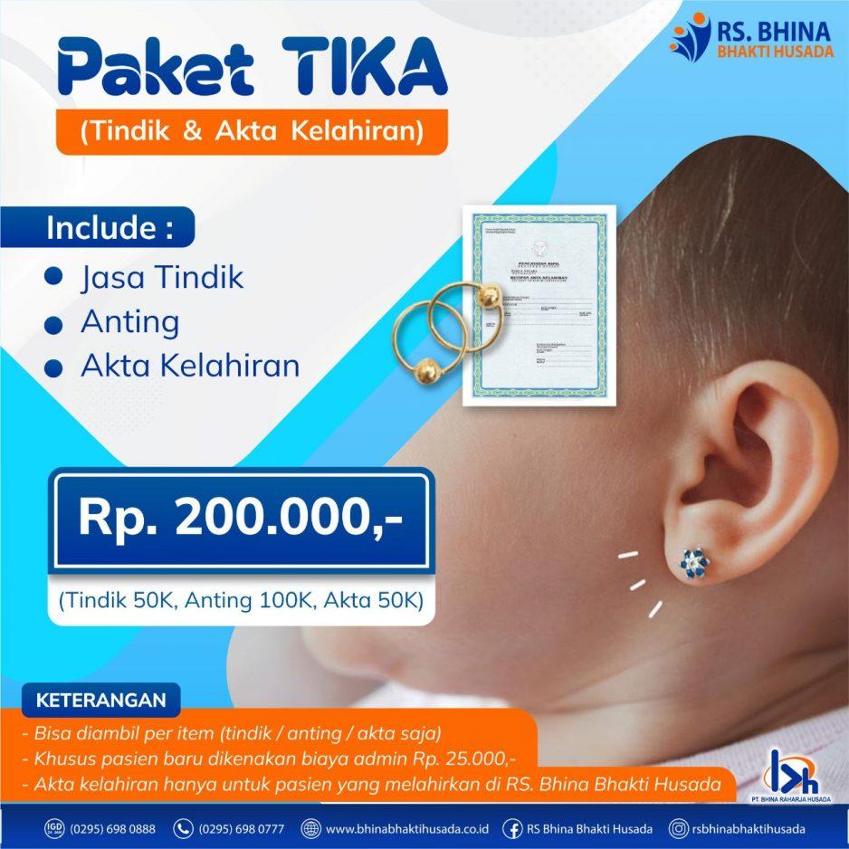 Paket TIKA (Tindik & Akta Kelahiran)