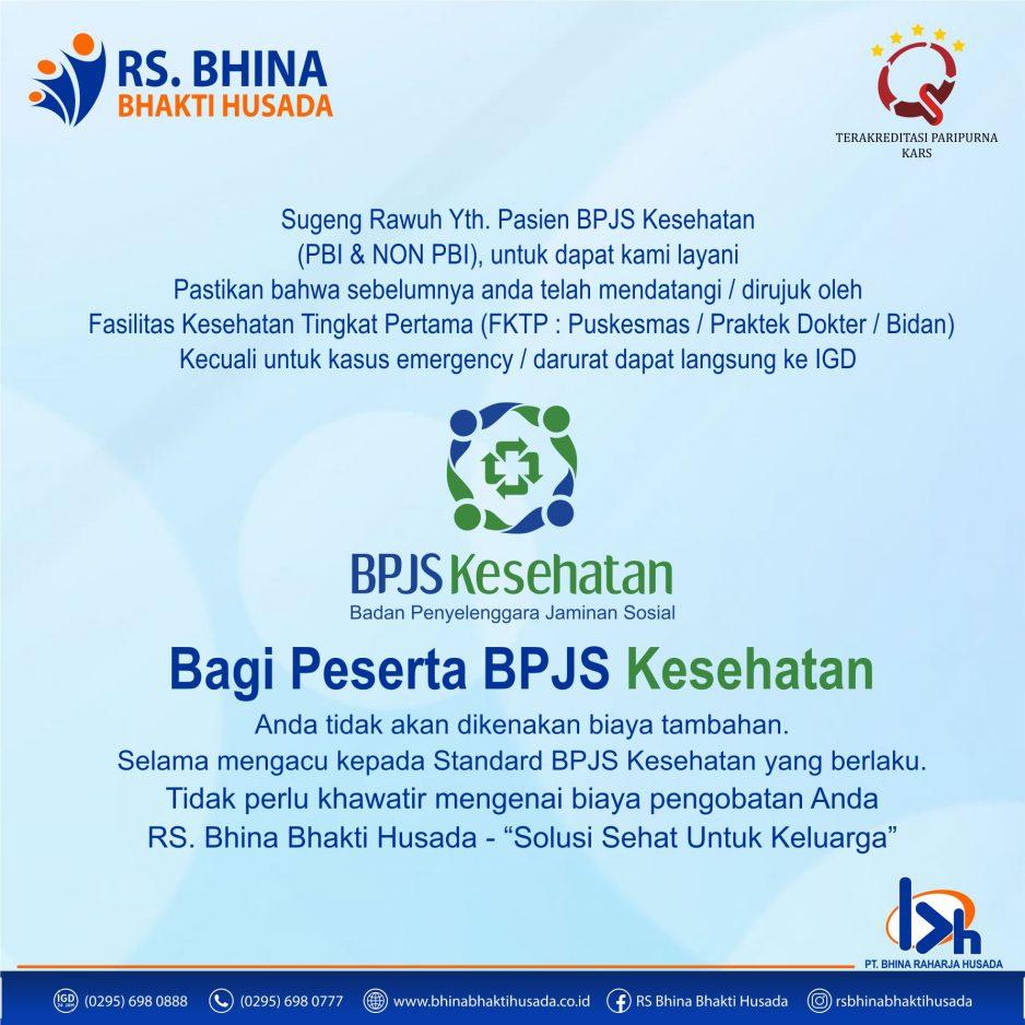 RS. Bhina Bhina Bhakti Husada Melayani Peserta BPJS Kesehatan