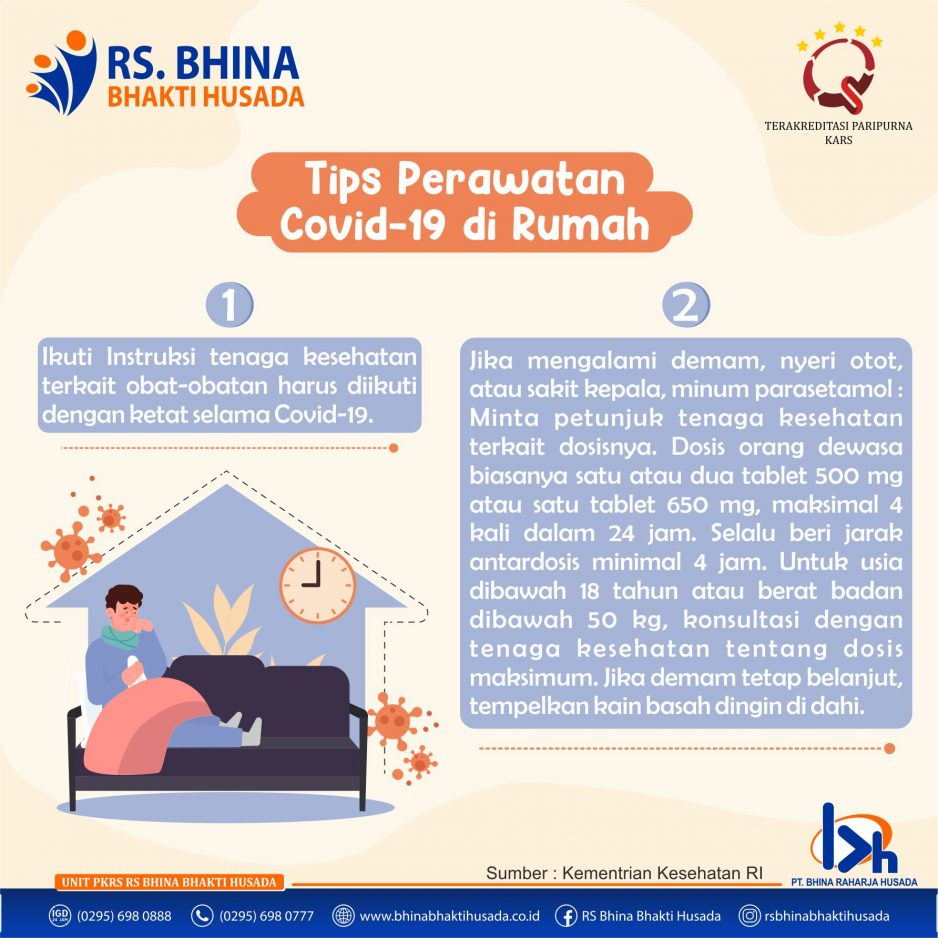 Tips Perawatan Covid-19 di Rumah